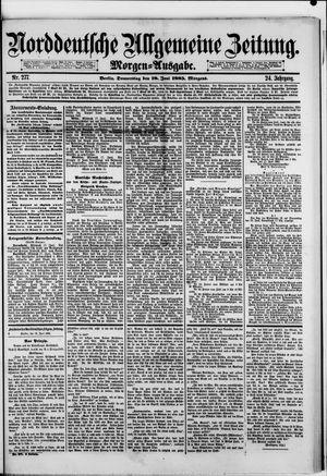 Norddeutsche allgemeine Zeitung vom 18.06.1885