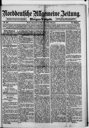 Norddeutsche allgemeine Zeitung vom 20.06.1885