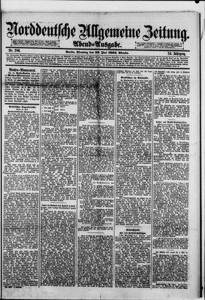 Norddeutsche allgemeine Zeitung vom 23.06.1885
