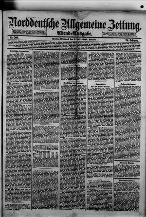 Norddeutsche allgemeine Zeitung vom 01.07.1885