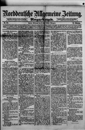 Norddeutsche allgemeine Zeitung on Jul 8, 1885