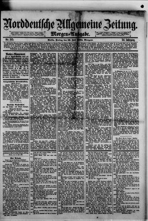 Norddeutsche allgemeine Zeitung on Jul 10, 1885