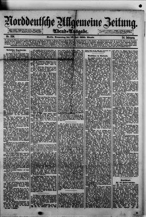 Norddeutsche allgemeine Zeitung vom 16.07.1885
