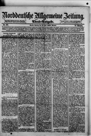 Norddeutsche allgemeine Zeitung on Jul 17, 1885