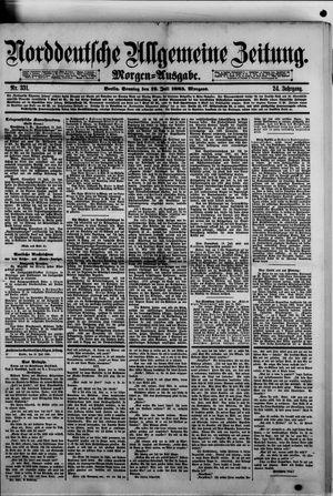 Norddeutsche allgemeine Zeitung vom 19.07.1885