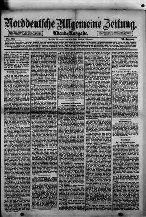 Norddeutsche allgemeine Zeitung vom 20.07.1885