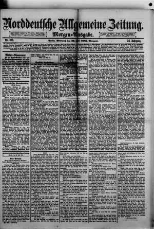 Norddeutsche allgemeine Zeitung vom 22.07.1885