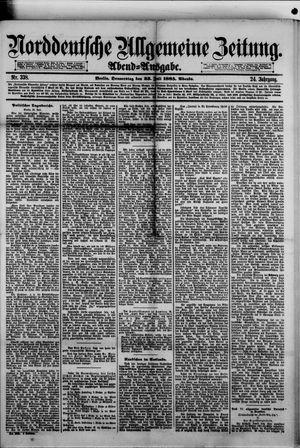 Norddeutsche allgemeine Zeitung vom 23.07.1885