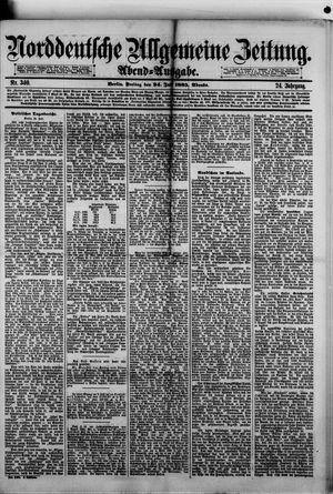 Norddeutsche allgemeine Zeitung vom 24.07.1885