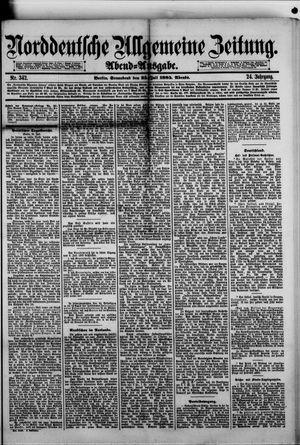 Norddeutsche allgemeine Zeitung vom 25.07.1885