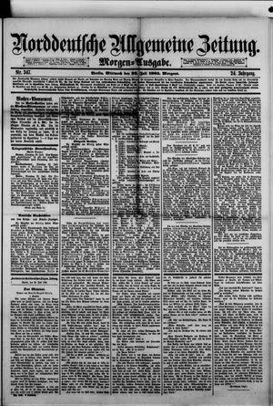 Norddeutsche allgemeine Zeitung vom 29.07.1885