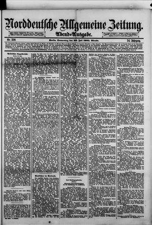 Norddeutsche allgemeine Zeitung vom 30.07.1885