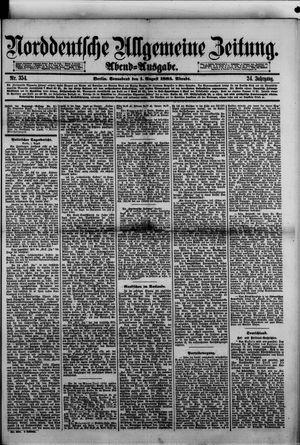 Norddeutsche allgemeine Zeitung vom 01.08.1885