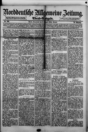 Norddeutsche allgemeine Zeitung vom 08.08.1885