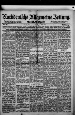 Norddeutsche allgemeine Zeitung vom 10.08.1885