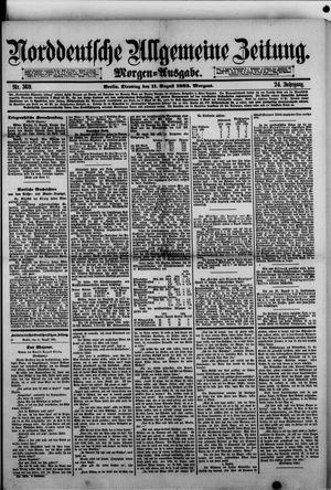 Norddeutsche allgemeine Zeitung vom 11.08.1885