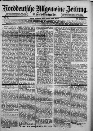 Norddeutsche allgemeine Zeitung vom 07.01.1886