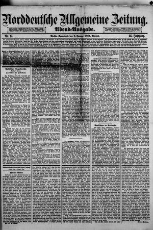 Norddeutsche allgemeine Zeitung vom 09.01.1886