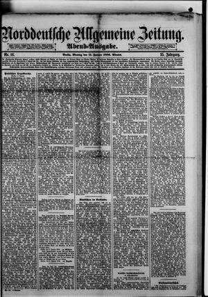 Norddeutsche allgemeine Zeitung vom 11.01.1886