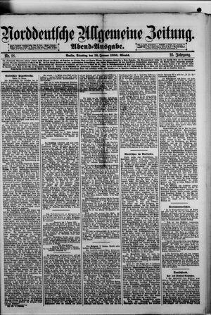 Norddeutsche allgemeine Zeitung vom 12.01.1886