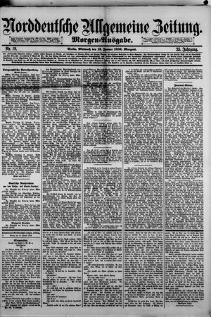 Norddeutsche allgemeine Zeitung vom 13.01.1886
