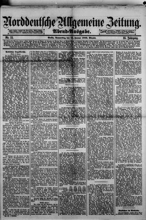 Norddeutsche allgemeine Zeitung vom 14.01.1886