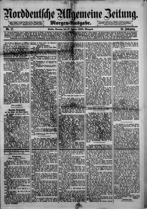 Norddeutsche allgemeine Zeitung vom 17.01.1886