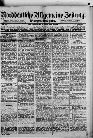 Norddeutsche allgemeine Zeitung vom 21.01.1886