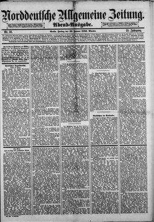 Norddeutsche allgemeine Zeitung vom 22.01.1886
