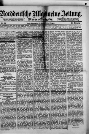 Norddeutsche allgemeine Zeitung vom 24.01.1886
