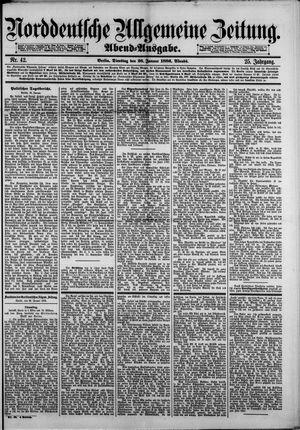 Norddeutsche allgemeine Zeitung vom 26.01.1886