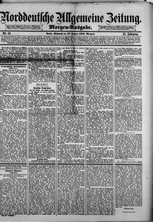Norddeutsche allgemeine Zeitung vom 27.01.1886