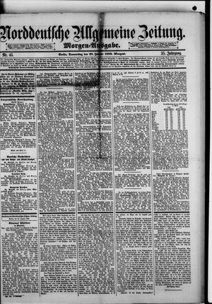 Norddeutsche allgemeine Zeitung vom 28.01.1886