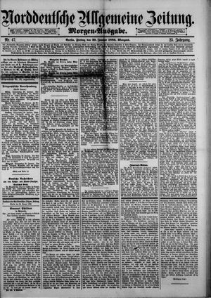 Norddeutsche allgemeine Zeitung on Jan 29, 1886