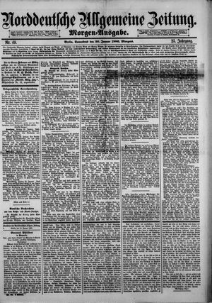 Norddeutsche allgemeine Zeitung vom 30.01.1886
