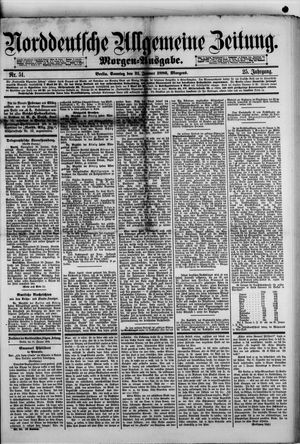 Norddeutsche allgemeine Zeitung on Jan 31, 1886