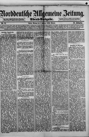 Norddeutsche allgemeine Zeitung vom 01.02.1886