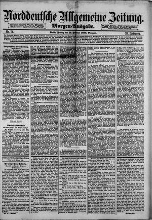 Norddeutsche allgemeine Zeitung vom 12.02.1886
