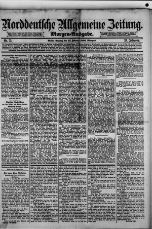 Norddeutsche allgemeine Zeitung vom 14.02.1886