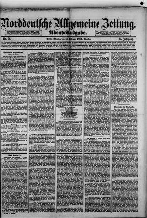 Norddeutsche allgemeine Zeitung on Feb 15, 1886