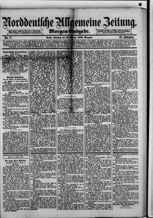 Norddeutsche allgemeine Zeitung vom 16.02.1886