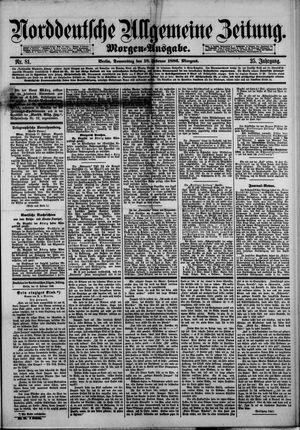 Norddeutsche allgemeine Zeitung vom 18.02.1886