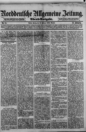 Norddeutsche allgemeine Zeitung on Feb 19, 1886
