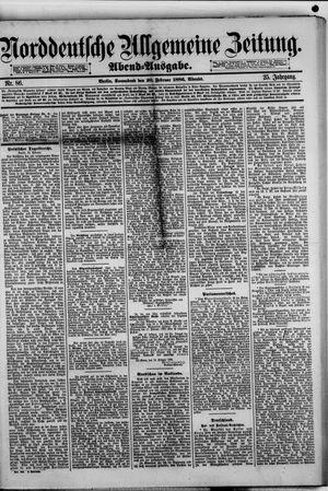 Norddeutsche allgemeine Zeitung vom 20.02.1886