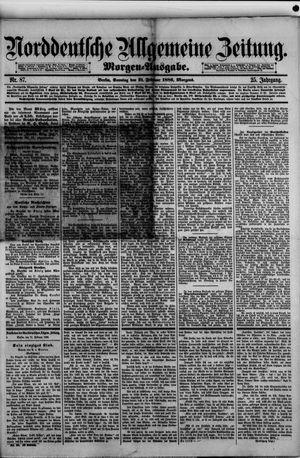 Norddeutsche allgemeine Zeitung vom 21.02.1886