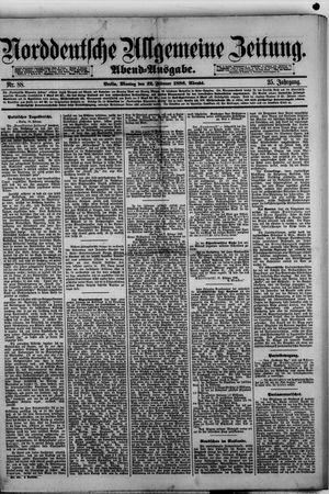 Norddeutsche allgemeine Zeitung vom 22.02.1886