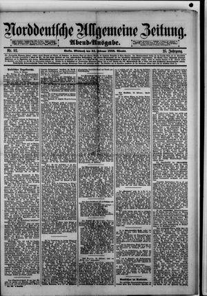 Norddeutsche allgemeine Zeitung vom 24.02.1886