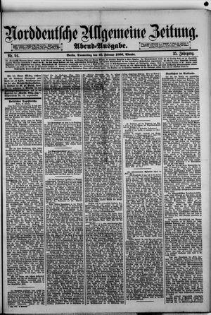 Norddeutsche allgemeine Zeitung vom 25.02.1886
