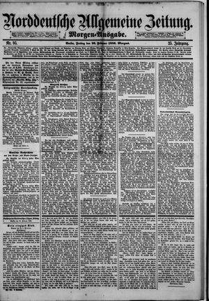 Norddeutsche allgemeine Zeitung on Feb 26, 1886