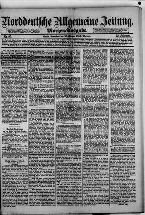 Norddeutsche allgemeine Zeitung vom 27.02.1886